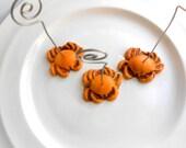 Sunset Orange Crab Wedding Place Card Holders set of 45