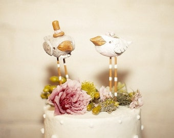 Summer Birds Wedding cake topper