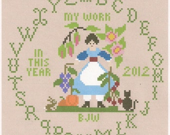 My Work Sampler Folk Art Harvest New Release