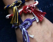 Sport Your Colors with a Custom Tatted Bracelet (up to 8.5 inches)
