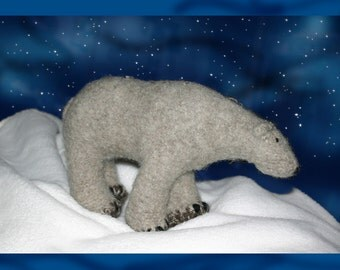 Knitted and Felted Polar Bear Pattern
