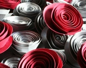 Custom Single stemless paper Flowers for decoration for Gina