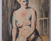 Nude Portrait by Henry Passalis - American 20th Century