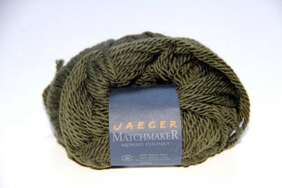6 balls of Olive green Jaeger: Super chunky merino yarn, destash