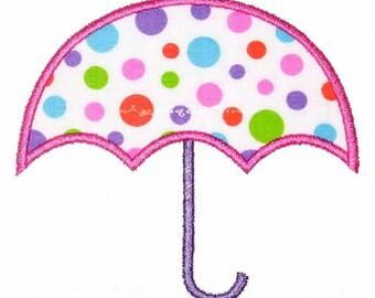 Instant Download Umbrella Machine Embroidery Applique Design 4x4, 5x7 and 6x10