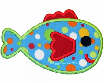 Instant Download Little Fish Machine Embroidery Applique Design 4x4 and 5x7