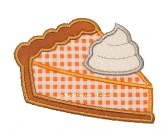 Instant Download Pumpkin Pie Machine Embroidery Applique Design 4x4, 5x7 and 6x10