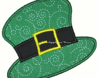 Instant Download Leprechaun Hat Machine Embroidery Applique Design 4x4, 5x7 and 6x10