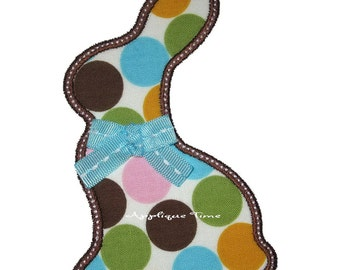 Instant Download Simple Chocolate Bunny Silhouette Machine Embroidery Applique Design 4x4, 5x7 and 6x10
