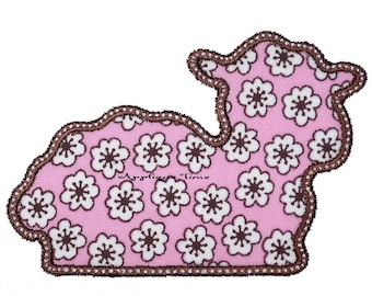 Instant Download Simple Lamb Sheep Silhouette Machine Embroidery Applique Design 4x4, 5x7 and 6x10