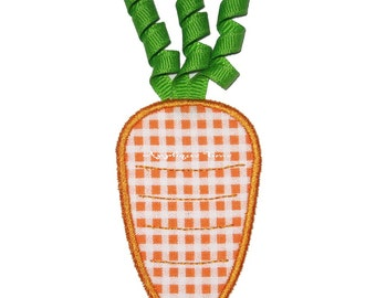 Instant Download Carrot Machine Embroidery Applique Design 4x4, 5x7 and 6x10
