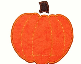 Instant Download Pumpkin w/o Leaf Machine Embroidery Applique Design 4x4 and 5x7