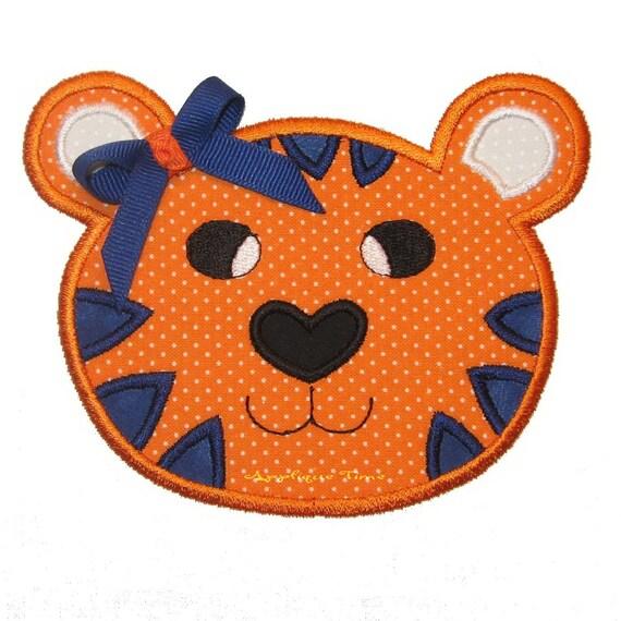 Tiger Machine Embroidery Applique Design 4x4, 5x7 and 6x10