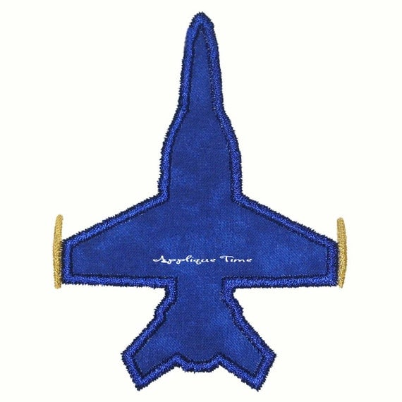 Instant Download Fighter Jet Plane Machine Embroidery Applique Design 4x4, 5x7 and 6x10