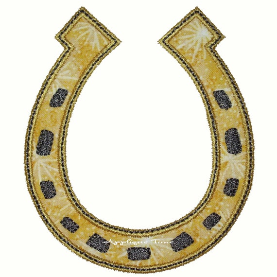 Instant Download Lucky Horseshoe Machine Embroidery Applique Design 4x4, 5x7 and 6x10