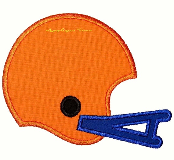 Instant Download Football Helmet Machine Embroidery Applique Design 4x4, 5x7 and 6x10