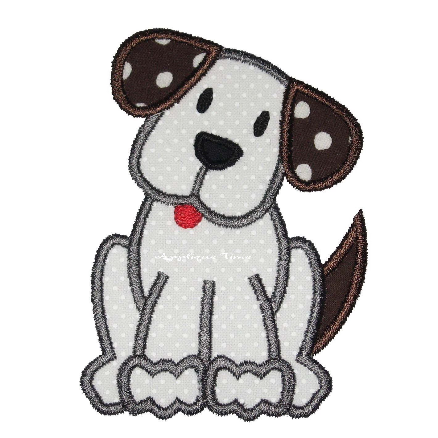 instant download puppy dog machine embroidery applique design. Black Bedroom Furniture Sets. Home Design Ideas