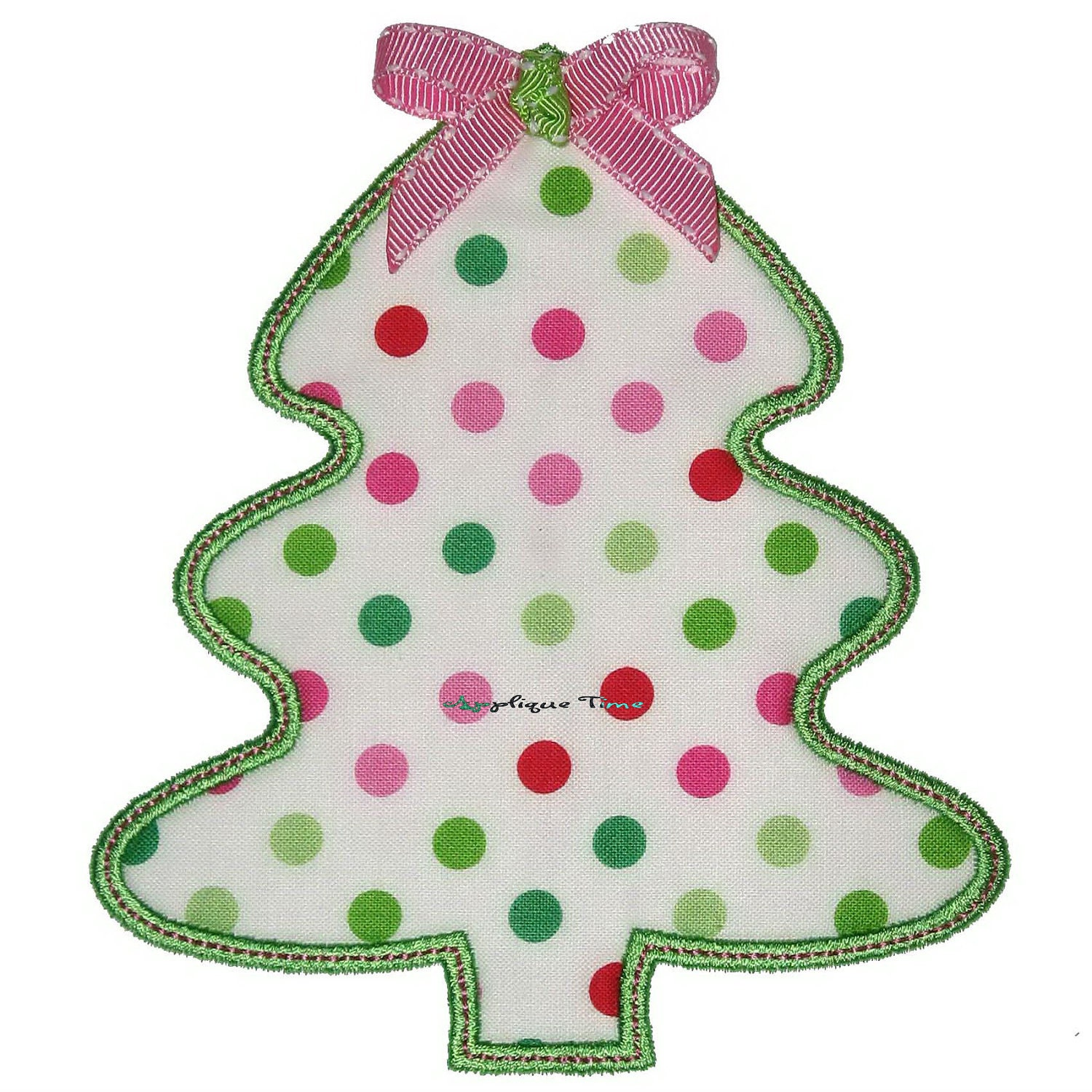Easy Christmas Tree Machine Embroidery Applique Design 4x4
