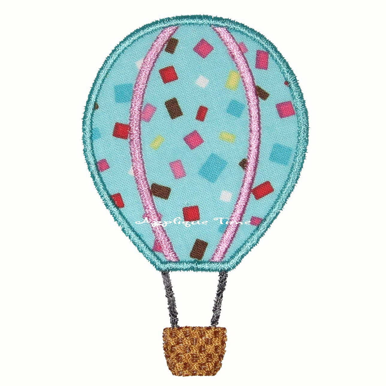 Instant Download Hot Air Balloon Machine Embroidery