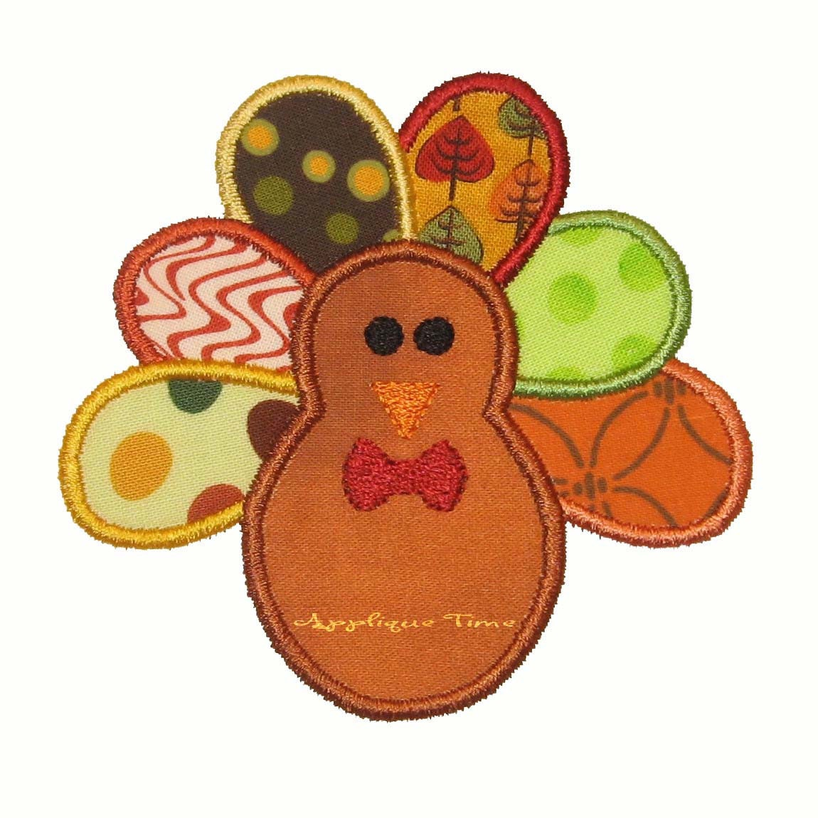 Instant download boy turkey machine embroidery applique design