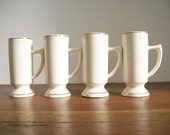 Hot Chocolate Mugs, Vintage Ivory