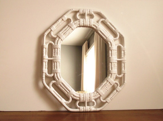 Faux Bamboo Mirror, Vintage