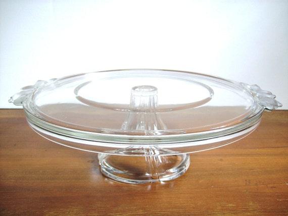 Crystal Cake Plate: Vintage Mikasa, Cake Stand
