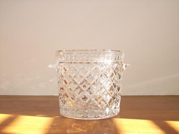 Crystal Ice Bucket, Vintage, Mad Men Barware