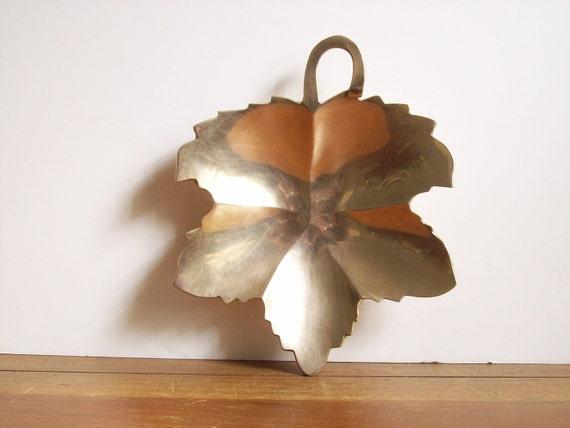 Vintage Brass Leaf Tray or Dish