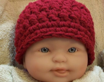 Pattern NO. 10 -  Chunky Crochet Beanie Cap - sizes included newborn - adult - Crochet Beanie Hat Pattern - Crochet Beani Pattern