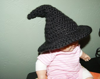 Pattern NO. 18 -  Witch Hat Crochet Pattern- sizes included newborn through adult - Crochet Witch Hat Pattern