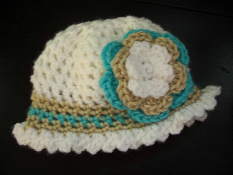 Pattern NO. 12 - Sun Flower Crochet Hat - sizes included ...