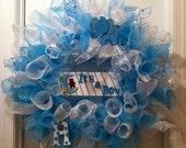 It's a Boy Geo Mesh Baby Shower Wreath