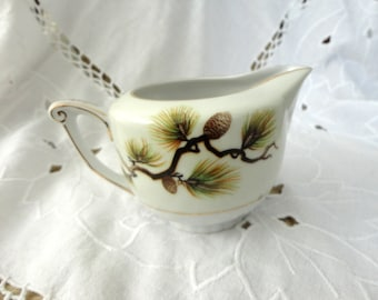 "Rare Vintage Fine Bone China Creamer ""Pinecone"" from Narumi"