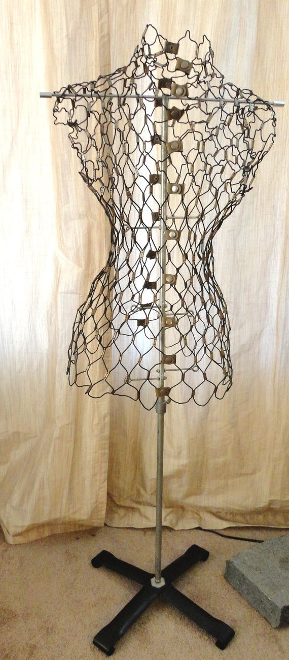 Absolutely Fabulous Vintage Wire Mesh Dress Form Mannequin