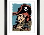 Pirate Poster / Pirate Print / Arrr Pirate - 8x10 Art Print
