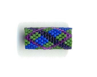 Woven Glass (Dread) Bead Tube ... ... ... 10mm/o-7mm/i ... ... ... ... ... 18x17 * 475