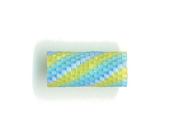 Woven Glass (Dread) Bead Tube ... ... ... 9mm/o-6mm/i ... ... ... ... ... 17x15 * 403