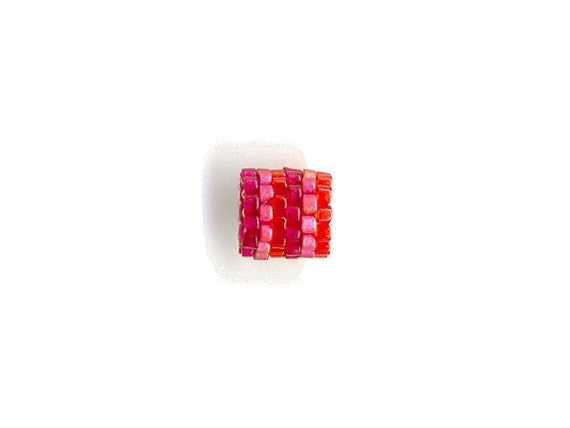 Woven Glass Bead Bead ... ... ... ... 7mm/o-4mm/i ... ... ... ... ... 06x11 * 313