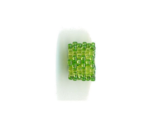 Woven Glass (Dread) Bead ... ... ... ... ... 9mm/o-6mm/i ... ... ... ... ... 06x15 * 448