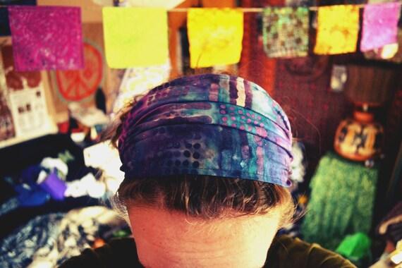 Purple Batik Headband