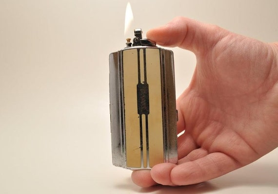 Working Ronson Sportcase Lighter and cigarette case