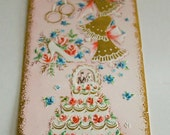 Vintage Gold Embossed Wedding Card by Sunshine Greeting Card Company
