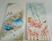 Two Little Girl Greeting Cards by Sunshine Card Company