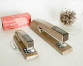 RESERVED : )  Two Vintage Brown Swingline Staplers