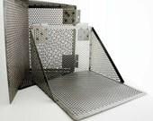 Two- Metal Slot Wall Display Shelving VERY Industrial Looking