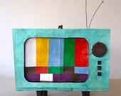 Vintage TV Piñata RESERVED for Tamara