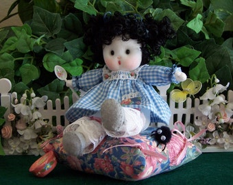 Nursery Rhyme Doll....Little Miss Muffet in Blue---Dolly for Kaye Wiggs