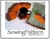 pdf Acorn Coasters Towels New Fall Spice Acorn Sewing Pattern