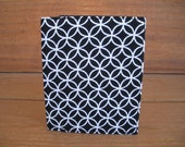 Fabric Business Card Case ID Wallet in Black and White Circles print / Ready to ship